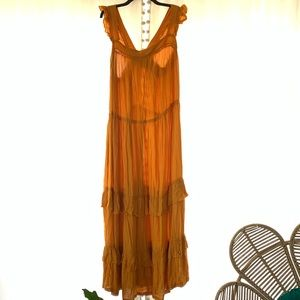 Mustard Hippie Dress (ASOS)